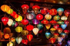 Kolorowy tradycyjny lampion w Hoi, Wietnam Obraz Stock