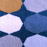 Kolorowy tradycyjny Peruwiański styl, zakończenie dywanika powierzchnia obraz royalty free