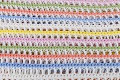 Kolorowy trykotowy szkockiej kraty tło Zdjęcia Stock