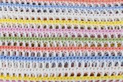 Kolorowy trykotowy szkockiej kraty tło Fotografia Stock