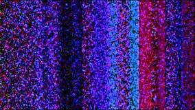Kolorowy TV śniegu ekran zdjęcia royalty free