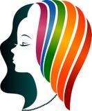 Kolorowy twarz logo royalty ilustracja