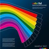 kolorowy układu szablonu wektor Obrazy Stock