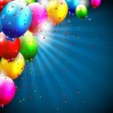 Kolorowy urodzinowy tło Zdjęcia Royalty Free