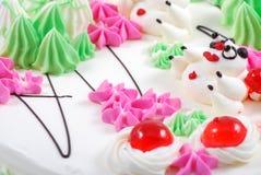 kolorowy urodzinowy tort Zdjęcie Royalty Free