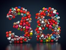 Kolorowy urodziny liczba trzydzieści osiem ilustracja wektor