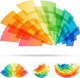 Kolorowy ustalony abstrakcjonistyczny element odizolowywający na białym tle ilustracji