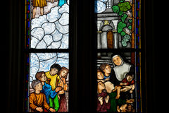 Kolorowy Vitraux Katedra los angeles Plata zdjęcia royalty free