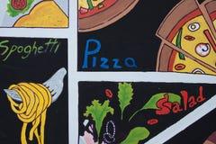 Kolorowy włoski karmowy etykietki tło Zdjęcie Royalty Free