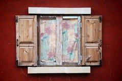 kolorowy włocha stylu okno Zdjęcia Stock