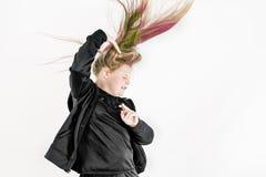 kolorowy włosy Obraz Royalty Free