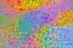 Kolorowy wakacje zaświeca abstrakcjonistycznego tło Fotografia Stock
