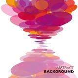 Kolorowy wektorowy abstrakcjonistyczny geometryczny tło ilustracji