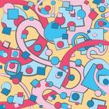 Kolorowy wektorowy abstrakcjonistyczny tło Ilustracja Wektor