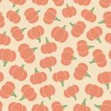 Kolorowy wektorowy bezszwowy wzór z pomarańczowymi bani sylwetkami na beżowym tle ilustracji