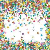 Kolorowy Wektorowy confetti tła szablon ilustracji