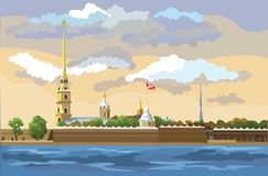 Kolorowy wektoru ST Petersburg 6 ilustracja wektor