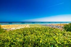 Kolorowy widok plaże zdjęcia stock