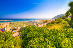 Kolorowy widok plaże obrazy stock