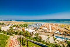Kolorowy widok plaże obrazy royalty free