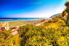 Kolorowy widok plaże fotografia stock