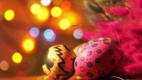 Kolorowy Wielkanocny Paschalny jajka świętowanie zdjęcie wideo