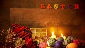 Kolorowy Wielkanocny Paschalny jajka świętowanie zbiory wideo