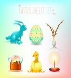 Kolorowy Wielkanocny symbolu set ilustracja wektor