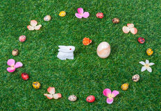 Wielkanocny jajko królika tło, tekstura,/ Zdjęcie Stock
