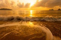 Kolorowy świt nad morzem Obrazy Royalty Free