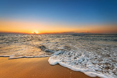 Kolorowy świt nad morzem Zdjęcia Stock