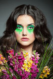 Kolorowy wizerunek dziewczyna obraz royalty free