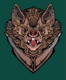 Kolorowy wizerunek gniewny nietoperz zdjęcie royalty free