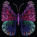 Kolorowy wizerunek motyl w abstrakcjonistycznej sztuki stylu royalty ilustracja