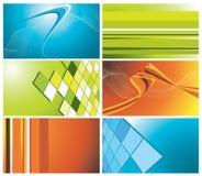 kolorowy wizytówka set Fotografia Stock
