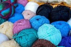 Kolorowy woolen Fotografia Royalty Free