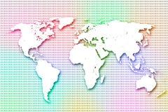 Kolorowy worldmap Obrazy Stock