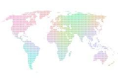 Kolorowy worldmap Zdjęcie Stock