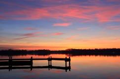 Kolorowy wschód słońca Obrazy Stock