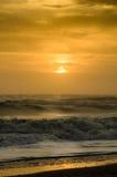 Kolorowy wschód słońca na wschodnim wybrzeżu Floryda Obraz Royalty Free