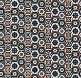 Kolorowy wschodni geometryczny wzór z sześciokątami royalty ilustracja