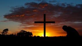 Kolorowy wschodu słońca krzyż zdjęcia stock