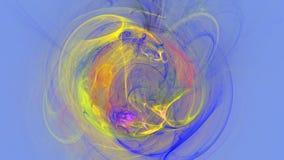 Kolorowy wybuch wygina się abstrakcjonistycznego 3d tło Obraz Royalty Free
