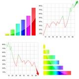 kolorowy wykres Obrazy Royalty Free