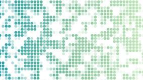 Kolorowy wzór sześciokąty na białym tle geometryczna tapeta Abstrakcjonistyczny przypadkowy sześciokąta ruchu wideo ilustracja wektor