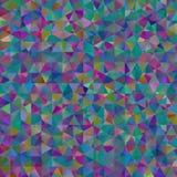 Kolorowy wzór z chaotycznymi trójbokami Obraz Royalty Free