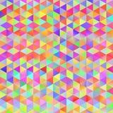 Kolorowy wzór z chaotycznymi trójbokami Obrazy Royalty Free