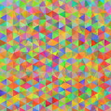 Kolorowy wzór z chaotycznymi trójbokami Obrazy Stock