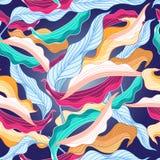 Kolorowy wzór z liśćmi Zdjęcie Stock