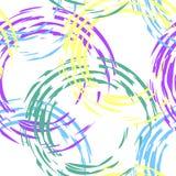 Kolorowy wzór z okręgami Zdjęcie Royalty Free